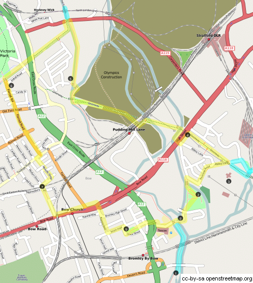 Three Mills Loop Map